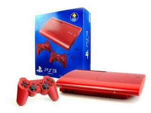 SONY-PS3-Konsole-ROT-12GB-SUPER-SLIM-Dualshock-3-Controller-Spielkonsole