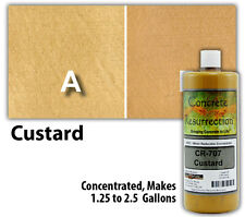 Professional Easy To Apply Water Based Concrete Stain Custard