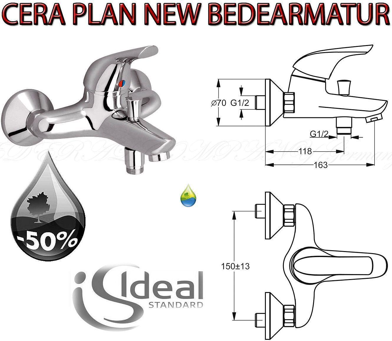 Ideal Standard B3697AA Ceraplan NEW Bade Bad Wannenarmatur Einhebelmischer Chrom