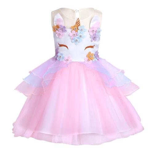 Costume Fancy Dress Kids Girls Outfit Tutu Skirt Dress Party Birthday Princess