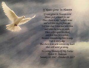 in memory of father sympathy gifts memorial poem condolence gifts