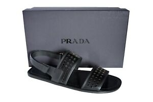 New-Authentic-PRADA-Mens-Shoes-Sandals-Sz-US12-EU45-UK11