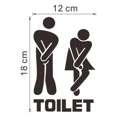 kreativ Toilette Badezimmer Wand Türdekoration Vinyl KUNST Aufkleber