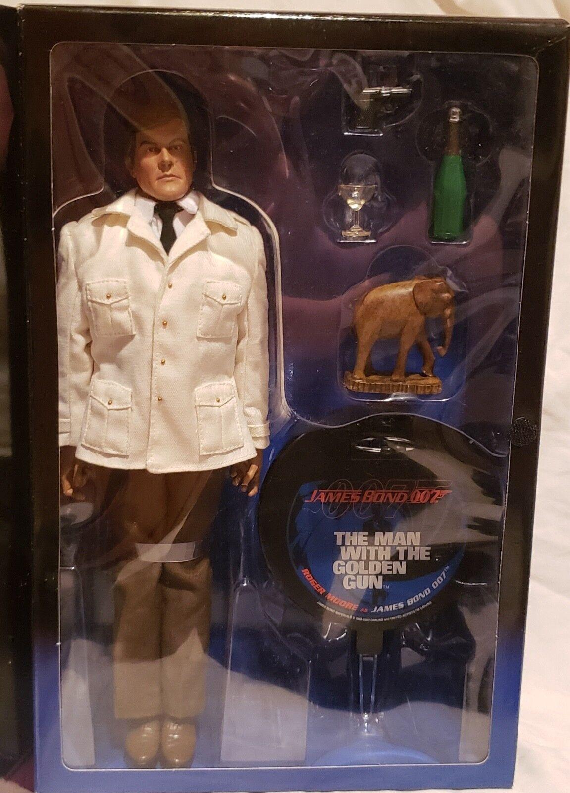 SIDESHOW James Bond 007 el hombre con la pistola de oro 12  Figura De Acción Nueva En Caja