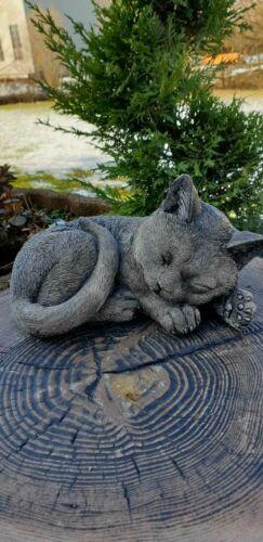 Katze liegend schlafend  Figur Wetterfest F0084