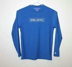 Billabong-Long-Sleeve-Sun-Shirt-Size-Men-039-s-Large-Rashie-Blue