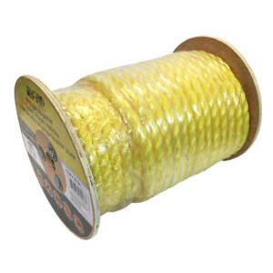 DuraDrive Polypropylene 3-Strand Twist 3/4 in. Yellow Rope 125 ft.