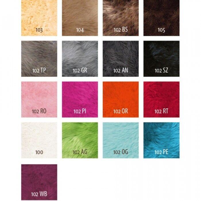 Fellteppich × 8 positions de peau lainee lammfelle Environ 185 × Fellteppich 235 cm 117542