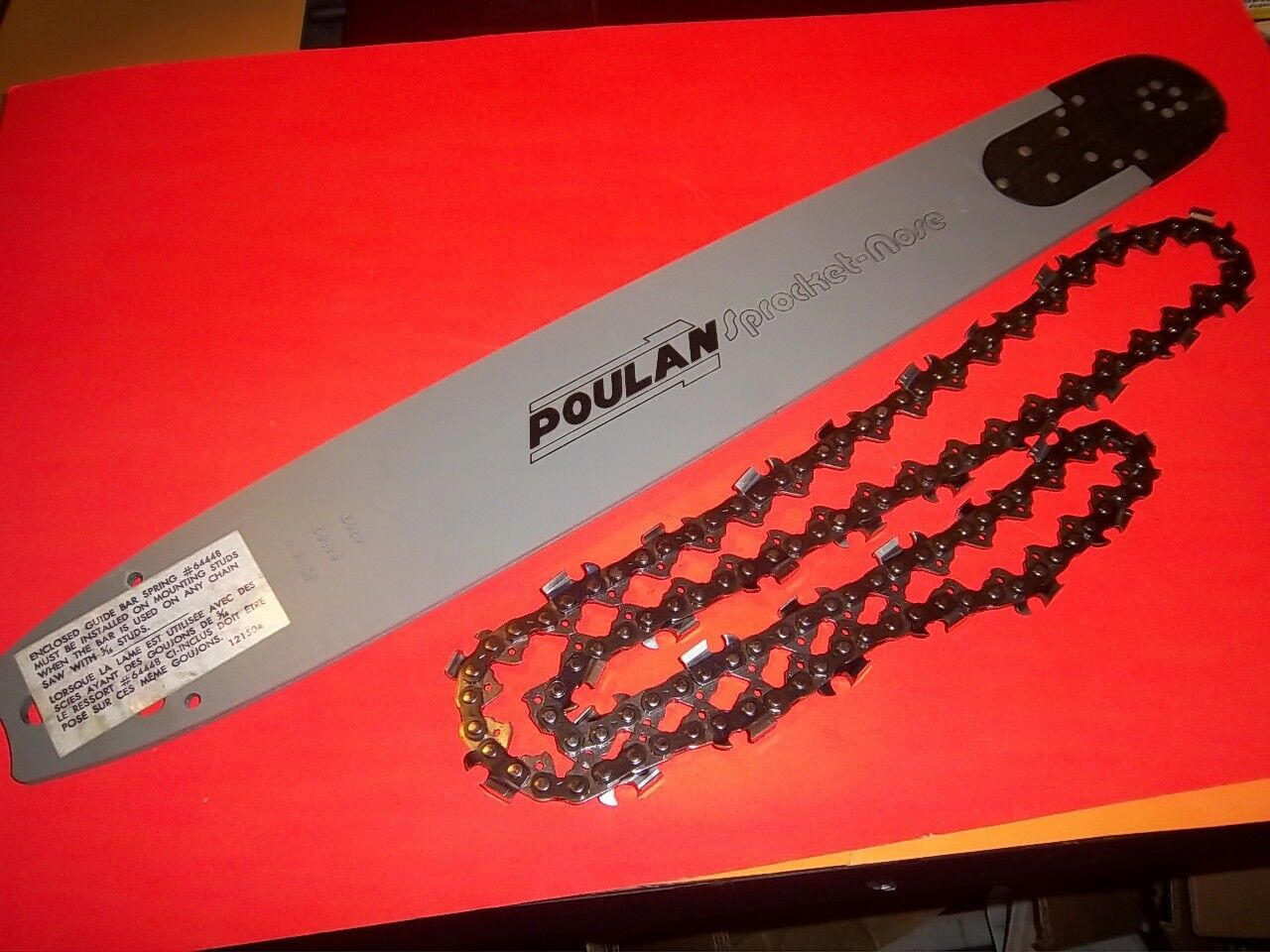 POULAN 18  BAR & CHAIN COMBO FITS 3400 3700 4200 4400 4900 5200 6700 7700 8500