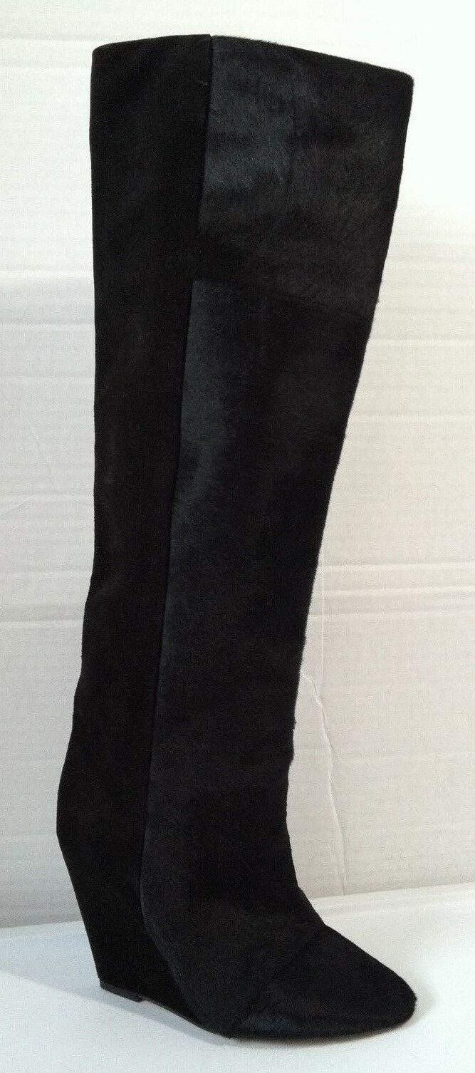 NWOBX Isabel Marant Shelia Pony Hair Wedge Stiefel US SZ 6 EUR SZ 36 Made in France