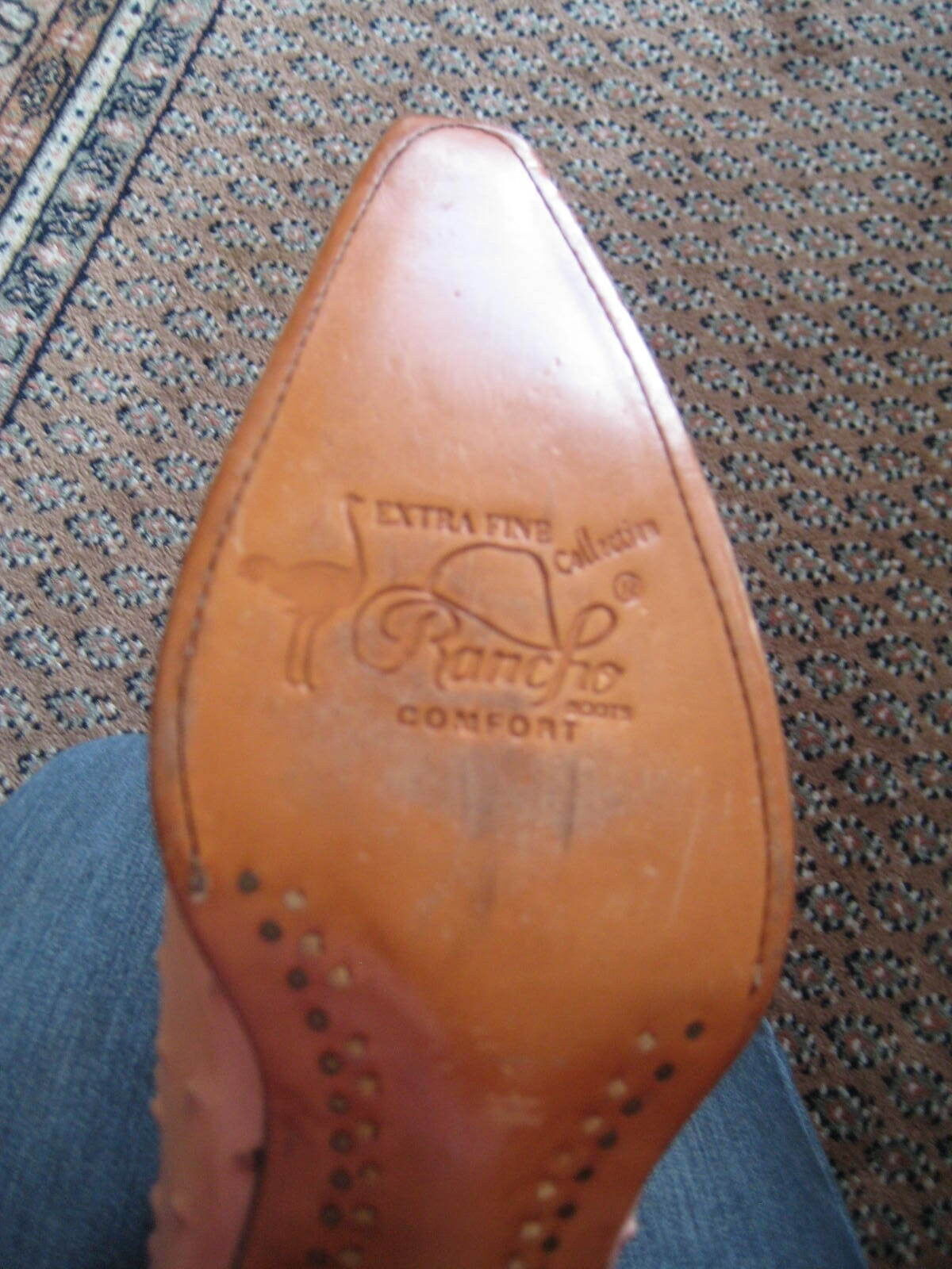 RANCHO Comfort Westernstiefel Fine Line Westernstiefel Comfort / Stiefel Strauss rosa  Damen Gr. 37  NEU 185475