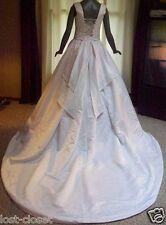Maggie Sottero White Silver Corset Wedding Dress Bridal Ball Gown Size 8 10 12
