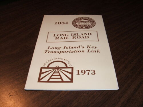 1973 LIRR LONG ISLAND RAIL ROAD LONG ISLAND'S KEY TRANSPORTATION LINK BOOKLET