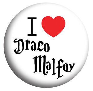 Image Is Loading I Love Draco Malfoy Harry Potter Badges Mirror