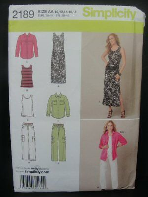 Simplicity 2189 Tank Dress Pants /& Buttondown Shirt Sz 10-18 UNCUT Tank Top