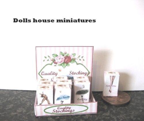 Pantalla del contador de las Señoras Medias de casa de muñecas miniaturas