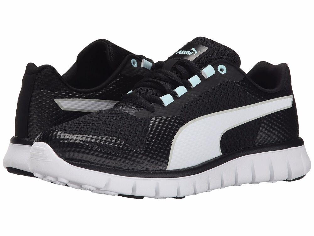 Femme chaussures PUMA Blur Femme fonctionnement chaussures 188406-02 noir blanc New