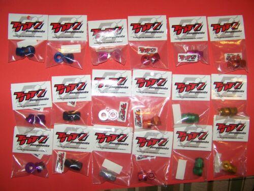 TNT BMX 3//8 par 26 écrou de l/'essieu paire en couleurs pour habiller que Ride