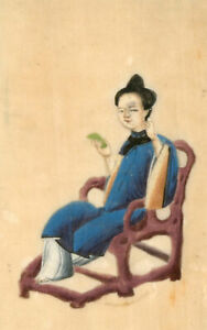 Pair-of-Chinese-19th-Century-Gouaches-on-Pith-Paper