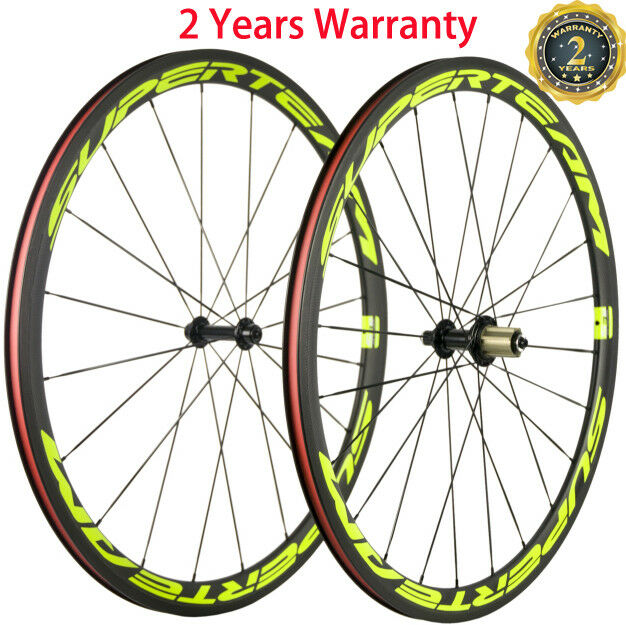 Superteam 38mm Clincher Road Bike Wheels Bicycle Wheelset 700C Carbon Wheels