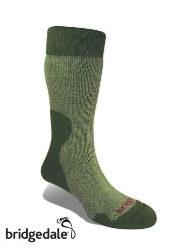 Bridgedale Merino Fusion SUMMIT WOMEN'S Heavy Hiking Sock OLIVE MARL LARGE