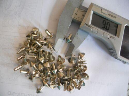Rivets pour vestes en cuir etc.100 cône en forme de rivets. ENVOI GRATUIT