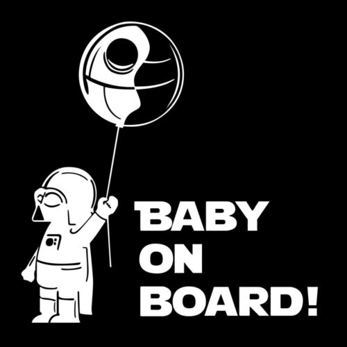 1//2Pcs Baby On Board funny Car Laptop Decal Vinyl Sticker car window