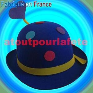 Chapeau-Melon-a-pois-de-Clown-Adulte-Cirque-Accessoire-Carnaval-Deguisement-Fete
