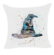 """Harry Potter Sorting Hat 17"""" Square Cushion Cover Pillow Case Home Decor Gift"""