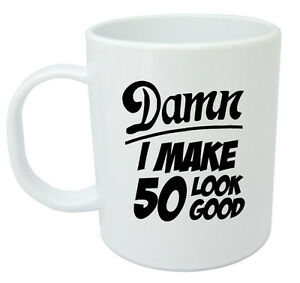 Image Is Loading Damn 50 Mug 50th Birthday Gifts Presents Gift