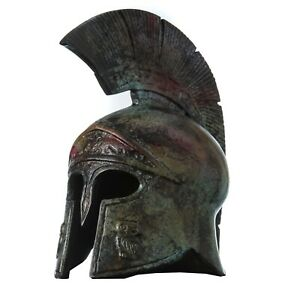 Ancient-Greek-Helmet-Bronze-Museum-Replica-Vintage-Athena-Battle-Collectable-8-034
