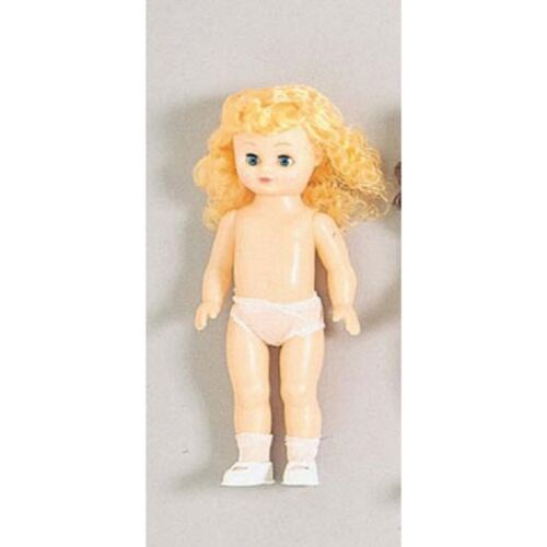Full Doll Caucasian Girl Blonde Hair 13.5 inch Christmas Gift Doll Making   B53
