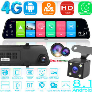 12in-4G-Android-8-1-Quad-Core-GPS-Navi-BT-Car-DVR-Camera-Rearview-Mirror-Dashcam