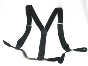 Old-West-re-enactment-cotton-mens-button-suspenders-leather-ends-Made-in-USA