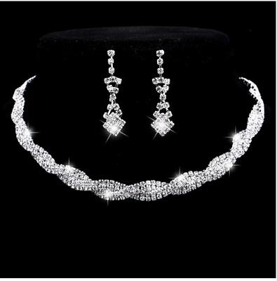 Vintage Damen Bernstein Halskette Ohrringe Schmuck Set Hochzeitsgeschenke NEU
