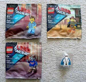 LEGO-The-LEGO-Movie-Rare-Pyjama-amp-Western-Emmet-DJ-Robot-amp-Vitruvius-New