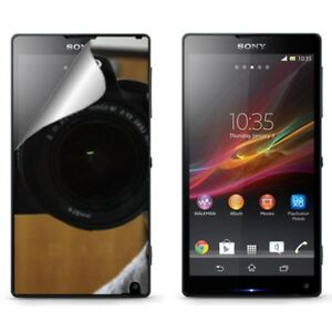Sony-Xperia-ZL-C6506-2X-Pack-Mirror-Screen-Protector-LCD-Phone-Cover
