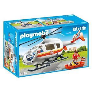 Playmobil City Life 6686 Emergenza Rescue Medico Elicottero Set ...