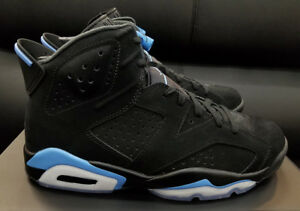c5ffd1cadd17 Air Jordan 6 Retro VI UNC black University blue 384664-006 Men size ...