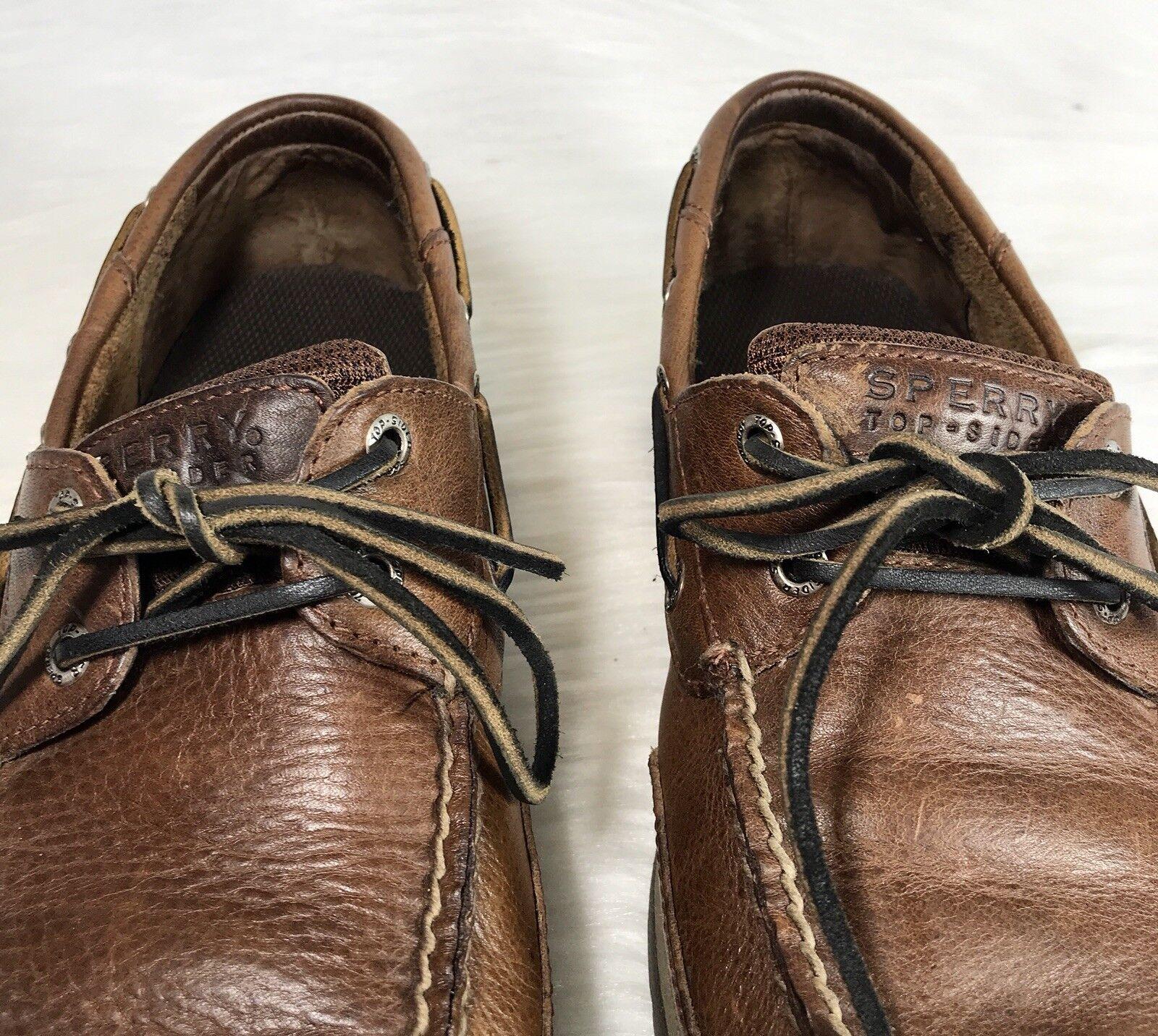 f7959cc8841 ... Sperry Top-Sider Para hombres Zapatos Náuticos Náuticos Náuticos Marrón  Cuero M 0dec34 ...