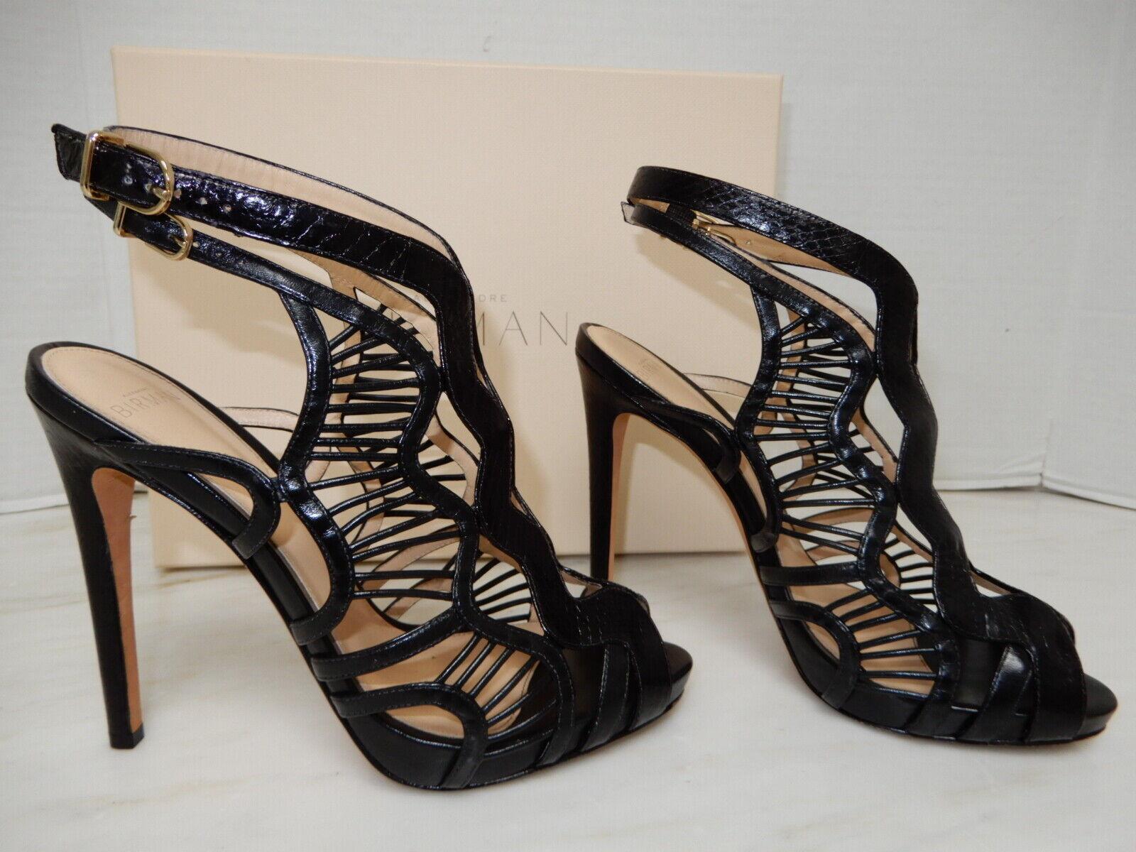 Alexandre Birman  1K Snake skin Booties sandals Heel shoes 38