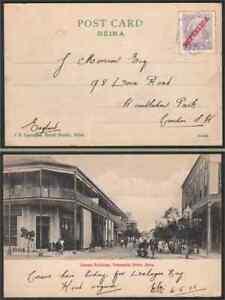 Mozambique-Co-1912-view-card-REPUBLICA-ovptd-20r