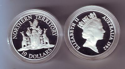 1990 $10 White Cockatoo ex Bird Series Set Silver Proof Coin Australia