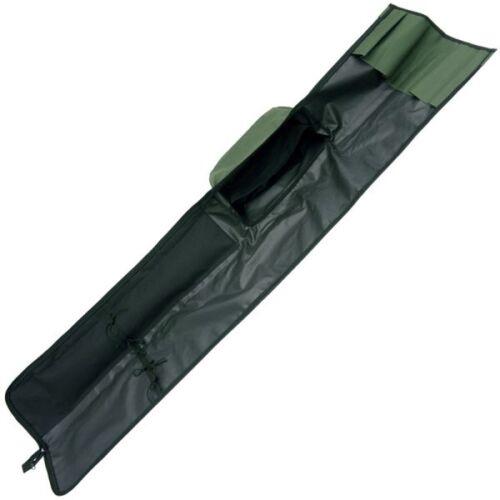 Rutentasche Rutenfutteral 2+2 12 ft 190cm Futteral 2 Rod Padded Sleeve grün