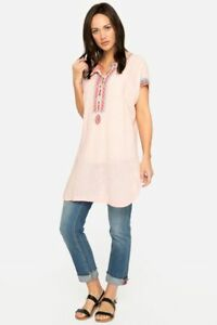 Johnny-Was-Pete-amp-Greta-Downing-Linen-Stripe-Tunic-Dress-Embroidered-P20118