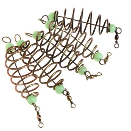5Pcs Luminous Beads Spring Lure Fishing Bait Feeder For Explosion Snapshot Hooks