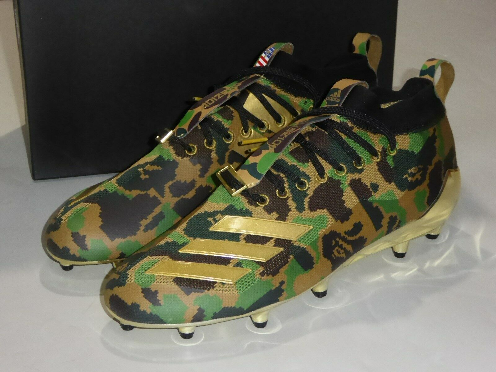 19878 adidas x bape football cleats bape green US11