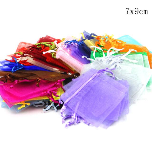 20Pcs Multicolor Drawable Organza Bags Wedding Party Favor Gift Jewellery Bag ES