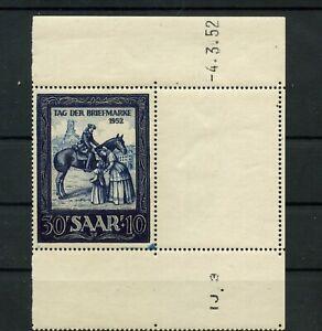 Germany-Saar-Saarland-vintage-yearset-1952-Mi-316-Br-Mint-MNH-2
