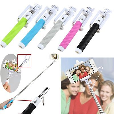 Extendable Handheld Portrait Selfie Stick Monopod For iPhone Samsung Galaxy HTC